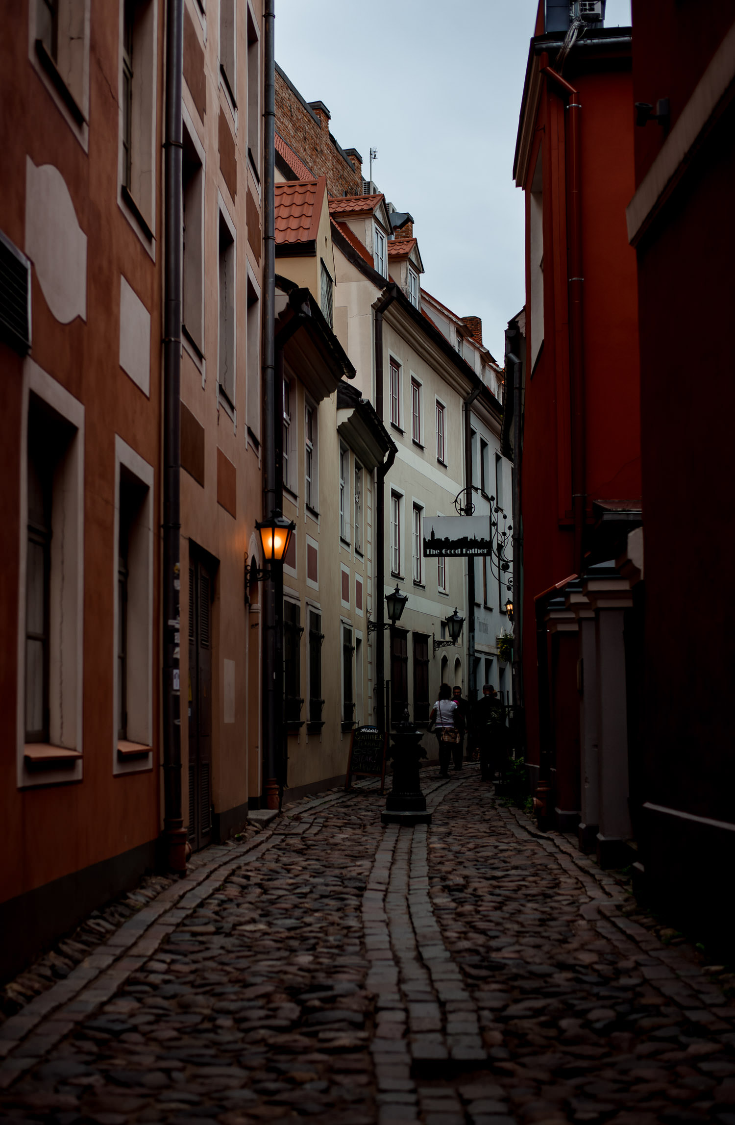 Riga alleyway photograph