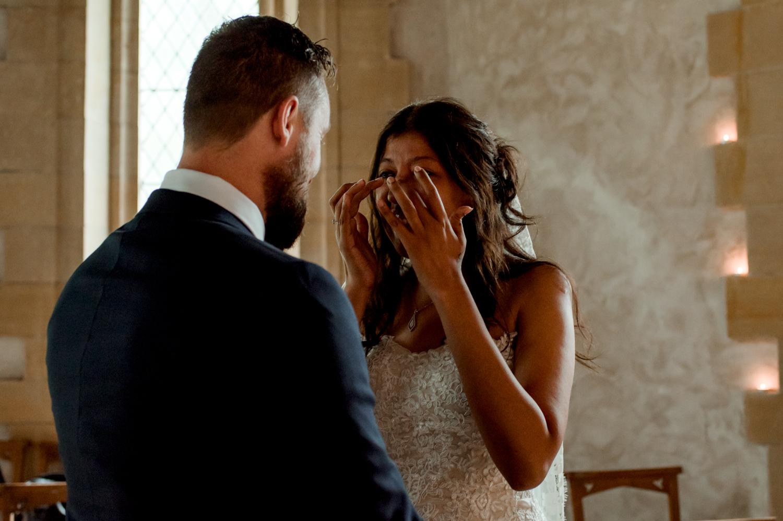 emotional bride scottish wedding