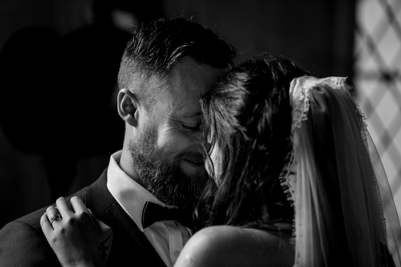 close up bride groom