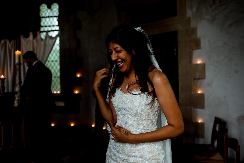 beautiful smiling bride belladrum